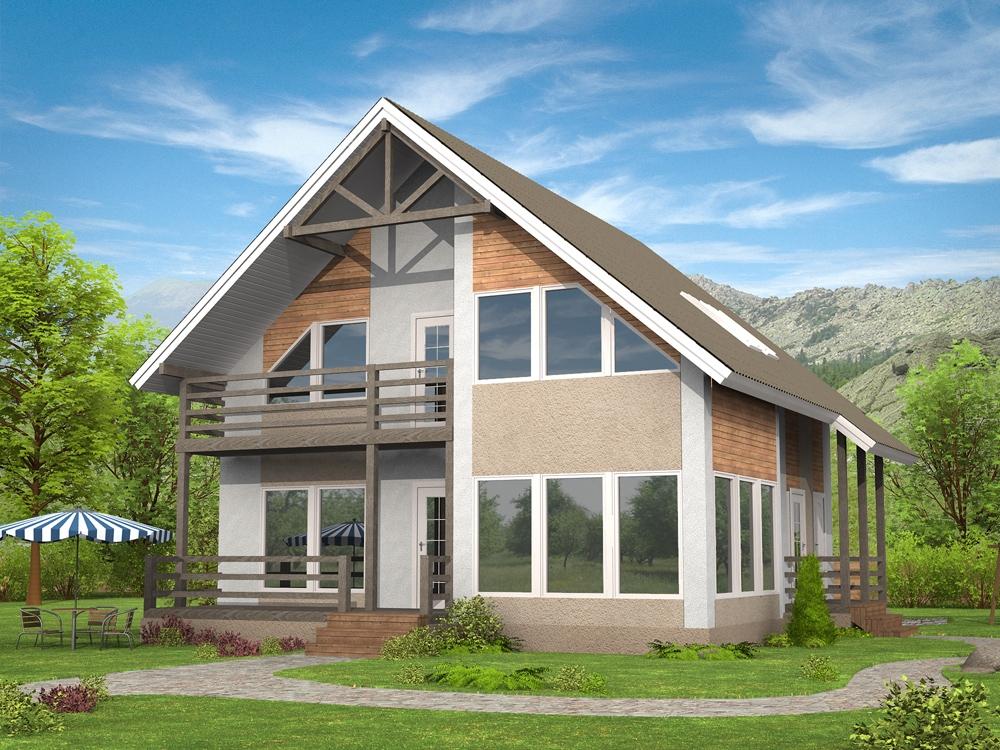 Как построить своими руками дом из профилированный брус 563